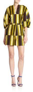 Stella Jean Marzaiola Striped Short Jumpsuit