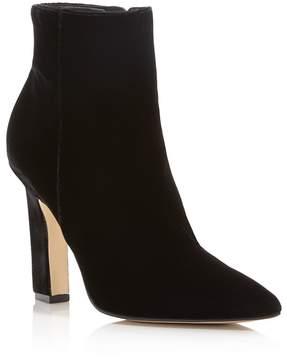 Marc Fisher Mayae Velvet Pointed Toe High Heel Booties - 100% Exclusive