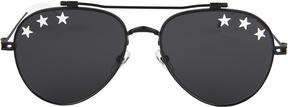 Givenchy White Star Black Aviator Sunglasses
