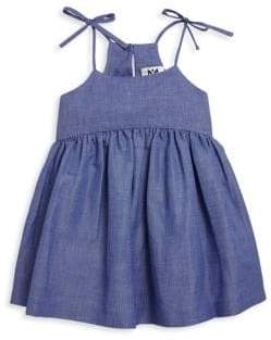 Milly Minis Toddler's, Little Girl's& Girl's Chambray Bow Tank Dress