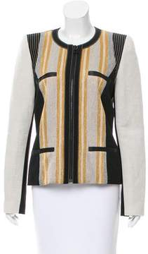 Barbara Bui Striped Collarless Jacket w/ Tags