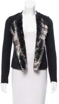 Ella Moss Faux Fur-Lined Open Front Jacket w/ Tags