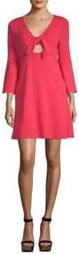 ABS by Allen Schwartz Women's Bell-Sleeve Tie Dress