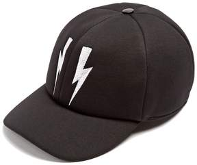 Neil Barrett Lightning bolt-embroidered baseball cap