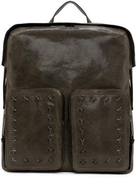 Jimmy Choo Grey Suede Lennox Backpack