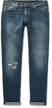 Nudie Jeans Skinny Lin Selvedge Stretch-Denim Jeans