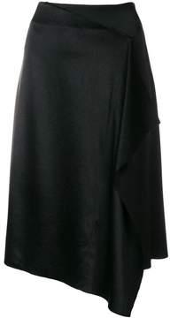 Cédric Charlier draped asymmetric skirt