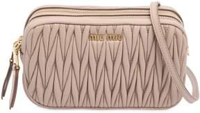 Miu Miu Double Zip Quilted Leather Camera Bag