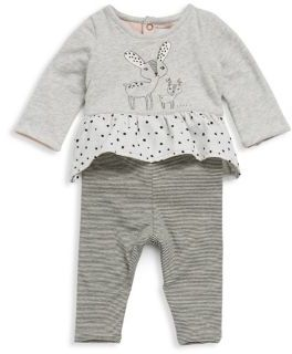 Catimini Baby's Two-Piece Rabbit Top & Reversible Pants Set