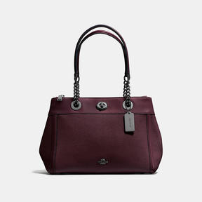 COACH Coach Turnlock Edie Carryall - DARK GUNMETAL/OXBLOOD - STYLE