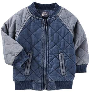 Osh Kosh Oshkosh Bgosh Baby Boy Quilted Bomber Denim Jacket