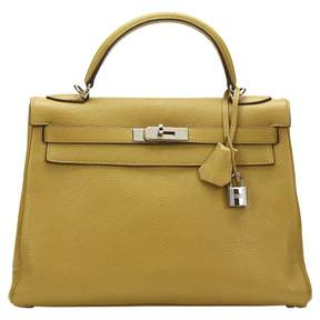 Hermes Kelly leather tote - YELLOW - STYLE