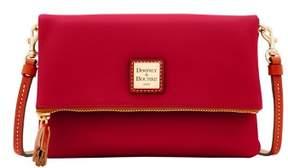 Dooney & Bourke Wexford Leather Foldover Zip Crossbody Shoulder Bag - WINE - STYLE