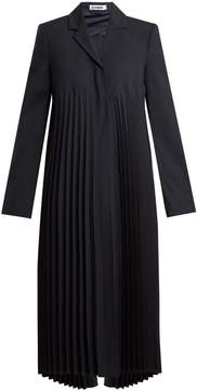 Jil Sander Espinosa pleated wool-blend coat