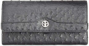 Giani Bernini Ostrich-Embossed Receipt Wallet, Created for Macy's