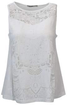 Desigual Women's White Polyester Tank Top.