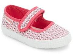 Cienta Baby's, Toddler's & Kid's Crochet-Accented Mary Jane Flats