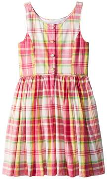 Polo Ralph Lauren Madras Cotton Sleeveless Dress Girl's Dress