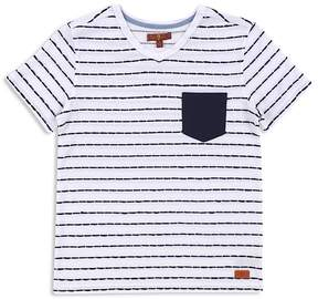 7 For All Mankind Boys' Stitched Stripe Pocket Tee - Little Kid