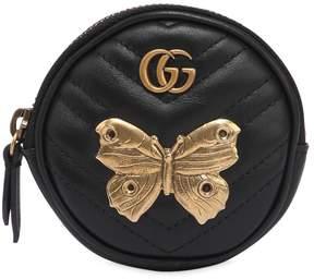 Gucci Gg Marmont Coin Purse W/ Metal Appliqués - BLACK - STYLE