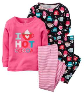 Carter's Baby Clothing Outfit Girls 4-Piece Snug Fit Cotton PJs I Love Hot Cocoa