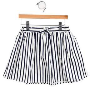 Rachel Riley Girls' Striped Mini Skirt