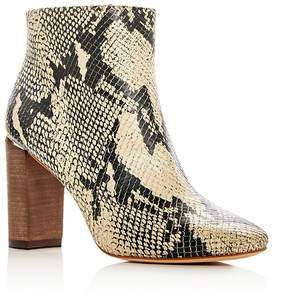 Pour La Victoire Women's Rickie Snake Embossed Leather High Heel Booties