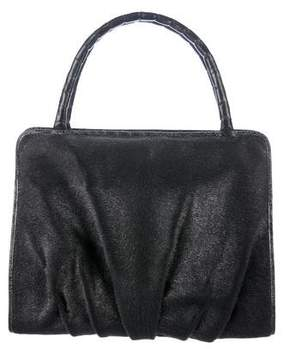 Nancy Gonzalez Crocodile-Trimmed Ponyhair Bag
