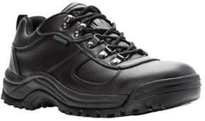 Propet Men's Cliff Walker Low Walking Shoe Black Full Grain Leather Size 9 D.