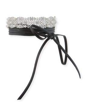 Fallon Monarch Dotted Pearl Wrap Choker Necklace