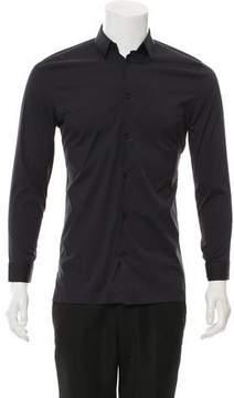 Balenciaga Woven Button-Up Shirt