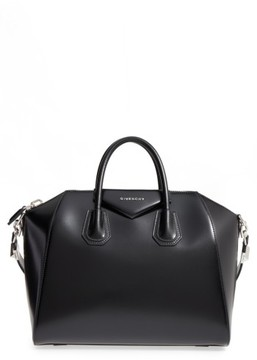 Givenchy Medium Antigona Box Leather Satchel - Black