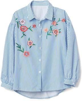 Gap Stripe Embroidery Shirt