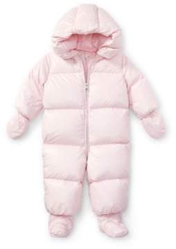 Ralph Lauren Quilted Down Snowsuit Hint Of Pink 3M