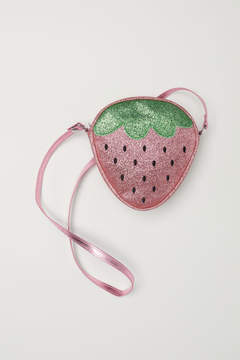 H&M Glittery shoulder bag - Pink
