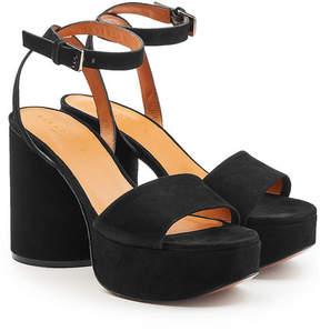 Robert Clergerie Vionica Suede Platform Sandals