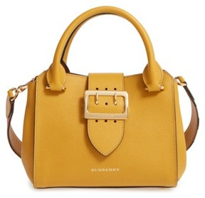 Burberry Small Calfskin Leather Tote - Yellow - YELLOW - STYLE