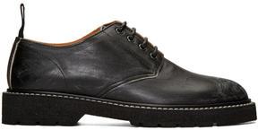Maison Margiela Black Leather Distressed Derbys
