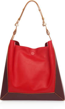 Marni Frame Colorblocked Leather Tote