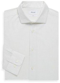 Façonnable Cotton Checkered Dress Shirt
