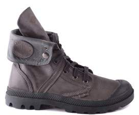 Palladium Men's Grey Leather Ankle Boots.