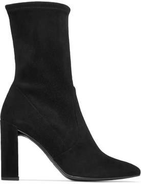 Stuart Weitzman Clinger Suede Ankle Boots - Black