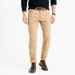 J.Crew Wallace & Barnes Straight fit jean in khaki selvedge denim