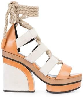 Pierre Hardy lace-up platform sandals