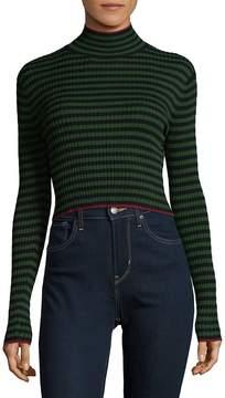 Ronny Kobo Women's Leslie Stripe Turtleneck Top