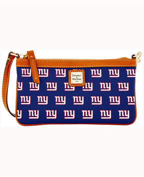 Dooney & Bourke New York Giants Large Slim Wristlet - NAVY - STYLE