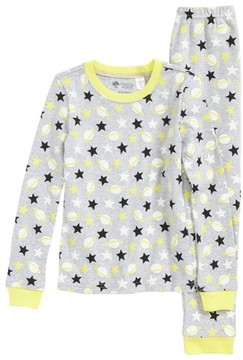 Tucker + Tate Toddler Girl's Glow In The Dark Two-Piece Fitted Pajamas