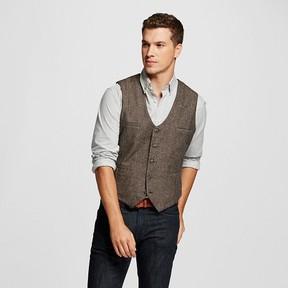 Merona Men's Vest Brown Herringbone