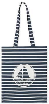 Womens striped waterproof shopping bag