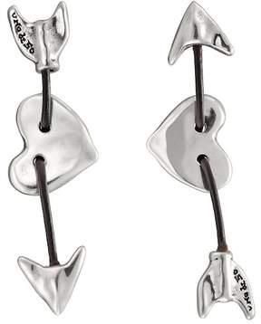 Uno de 50 Iman & Bowine Arrow & Heart Stud Earrings